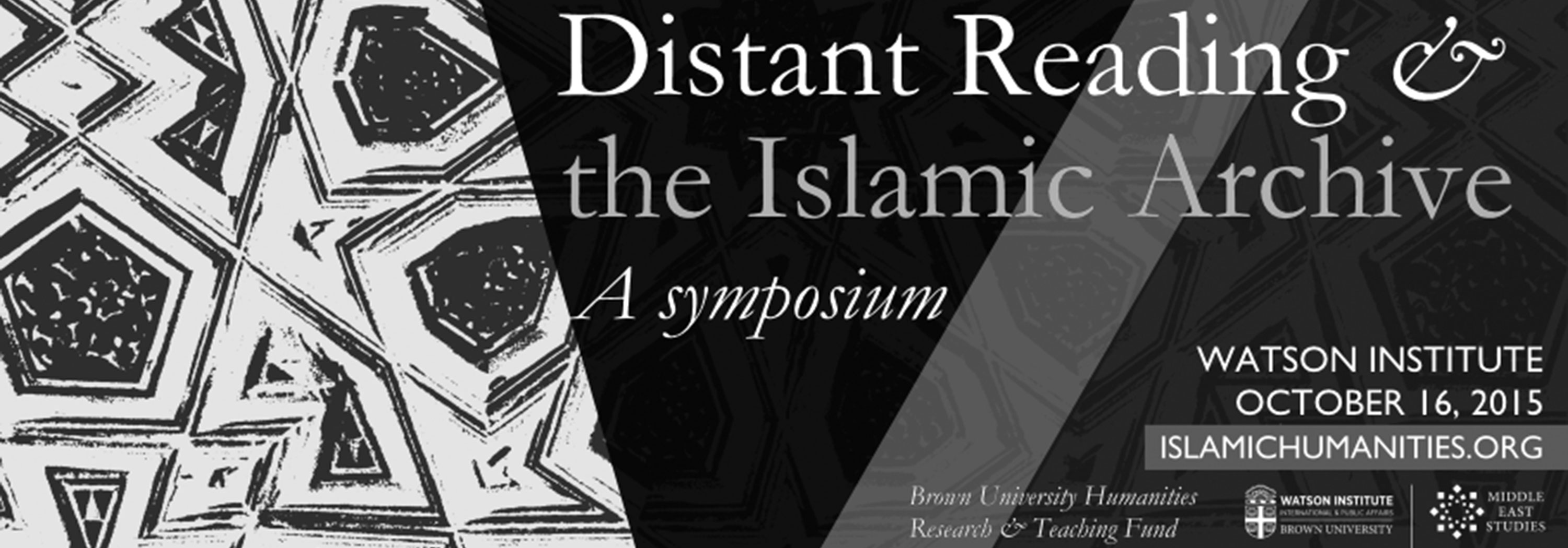 Distant Reading & the Islamic Archive
